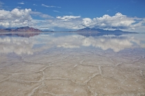 Bonneville Salt Flats Utah after a recent downpour