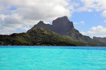 Bora Bora French Polynesia - Southern view of the island
