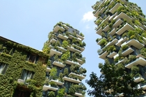 Bosco verticale Green in the city Milan Italy