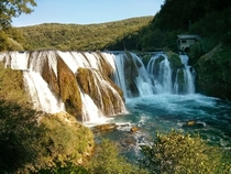 Bosnia and Herzegovina National park Una waterfall Strbacki buk