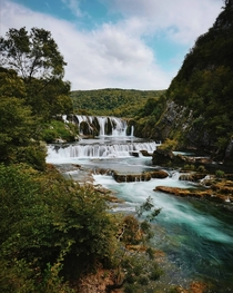 Bosnian waterfall wonderland River una and Strbacki buk It was my last summer vacation day
