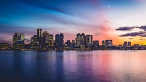 Boston at dusk taken by me a few nights ago  repost from rpics