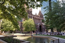 Boston Copley Square Named after a painter No neon lights and billboards