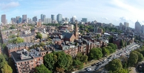 Boston from a drone Not quite Old World Not quite New World Just Unique