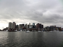 Boston from the inner harbor ferry