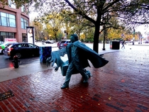 Boston glistening from the rain Quoth the Raven Nevermore