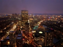 Boston MA from the Skywalk Observatory