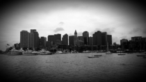 Boston Massachusetts - Skyline view from a Ferry