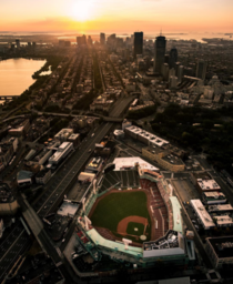 Boston overlooking Fenway Park