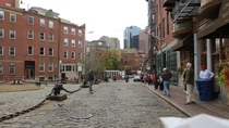Boston Paul Reveres house was built in  The view has changed