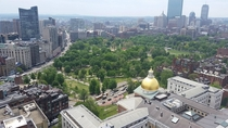 Boston rare angle from above the Golden Dome