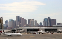 Boston Skyline from Logan International Airport