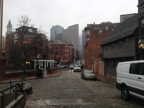 Boston The urban mix from Paul Reveres house built in