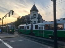 Bostons Green Line Trams - Coolidge Corner