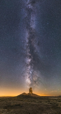 Bought my first real camera and became addicted to landscape astrophotography One of my favorites from this summer - a vertical panorama at Trona CA