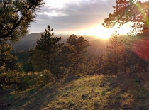 Boulder CO Sunset Mount Sanitas looking west no filter