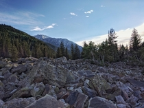 Boulder Field in Little Cottonwood Canyon Sandy Utah