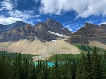 Bow Lake Alberta in the amazing Canadian Rockies  X