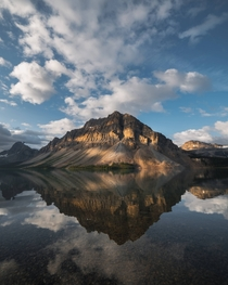 Bow Lake in Jasper National Park Alberta Canada