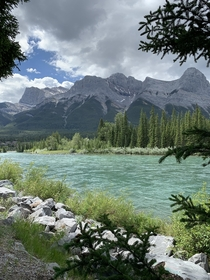 Bow River Canmore Alberta Canada  x