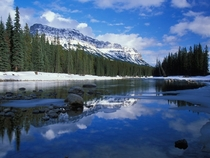 Bow river through the Canadian Rockies