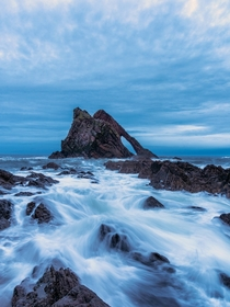 Bowfiddle Rock Portnockie Scotland  - I took this photo just after sunset at the beginning of blue hour last night - what a beautiful place x