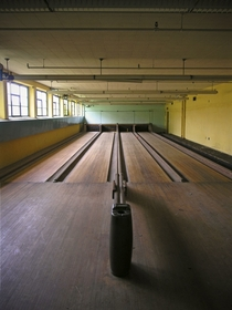 bowling alley norwich state hospital -   x