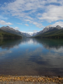 Bowman Lake and Mount Carter - part of Glacier National Park Montana One of the most beautiful places Ive ever been
