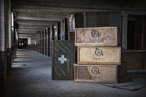 Boxes inside the abandoned Scranton Lace Factory Scranton PA  Photo by Andrew Bacha