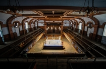 Boxing ring with the lights on For the complete set wwwfbcombaltimoreurbex