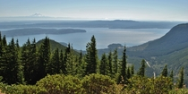 Boy have I missed homeMt Rainier and the Hood Canal as viewed from Mt Walker near Quilcene WA