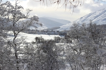 Braemar in the Scottish Highlands taken in the snow