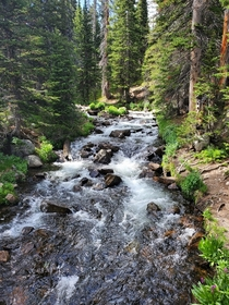 Brainard lake recreation area Mitchell lake trail Colorado x