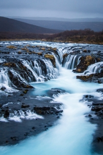 Brarfoss Waterfall in Iceland a muddy trek to reach but worth it