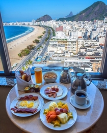 Breakfast at Copacabana Beach