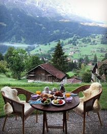 Breakfast in Grindelwald Switzerland
