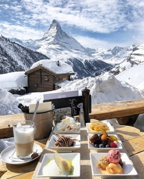 Breakfast in Zermatt Switzerland