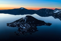 Breakfast of Champions at the deepest lake in the United States Crater Lake National Park Oregon
