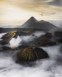 Breathtaking aerial view of Mt Bromo East Java -  Photographer  WithLuke