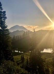 Breathtaking evening near Mount Rainier NP WA