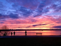 Breathtaking New Years Day Sunset in Vancouver Canada