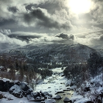 Breathtaking train journey from Oslo to Bergen Taken by my friend on his iPhone