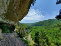 Breathtaking view from Big Bluff in the Ozark NF USA