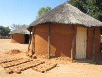 Bricks drying in rural Zimbabwe