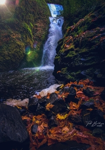 Bridal Veil Falls in Autumn Columbia River Gorge Oregon