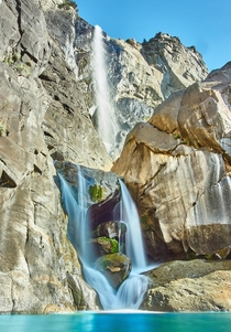 Bridal Veil Falls in Yosemite Valley