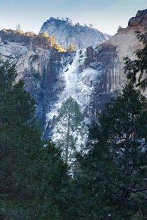 Bridalveil Falls Froze - second pic Yosemite NP