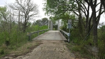 Bridge crossing the Lampasas River in Texas