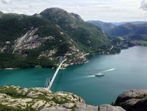 Bridge in Lysefjorden Norway