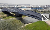 Bridge Pavilion designed by Zaha Hadid Zaragoza Spain